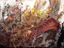 Formen, Zelle, Farben, Fluss