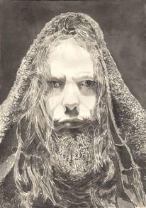 Mann, Portrait, Augen, Haare