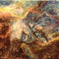 Galaxie, Universum, Nebel, Malerei