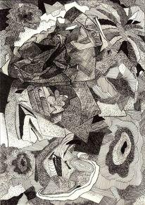 Tuschmalerei, Traum, Schaum, Zeichnung