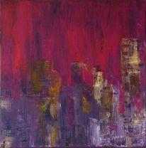 Violett, Stadt, Abstrakt, Haus
