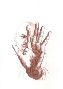 Hand, Augen, Kopf, Finger