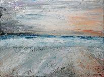 Meer, Gischt, Wasser, Strand