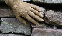 Menschen, Natur, Hand, Stein