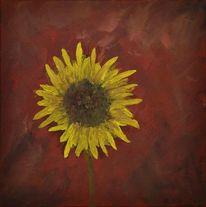 Acrylmalerei, Gemälde, Sonnenblumen, Malerei