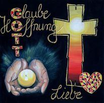 Glaube, Licht, Hände, Hoffnung