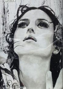Schwarz weiß, Monica bellucci, Weiß, Portrait