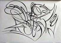 Zeichnung, Abstrakt, Kugelschreiber, Zeichnungen