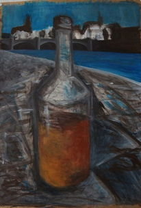 Landschaft, Rum, Acrylmalerei, Malerei