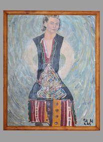 Acril on canvas, Malerei
