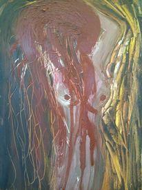 Gesicht, Ölmalerei, Seele, Blut