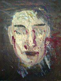 Tränen, Ölmalerei, Blut, Rot