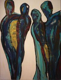 Acrylmalerei, Malerei, Blau