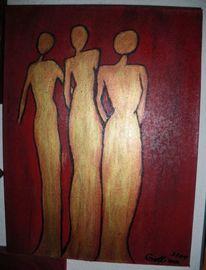 Gestaltung, Abstrakt, Trio, Malerei
