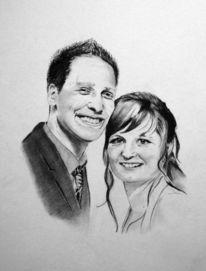 Portraitzeichnung, Foto zeichnen, Zeichnung, Hochzeit