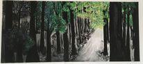 Wald, Acrylmalerei, Natur, Malerei