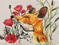 Fuchs, Tiere, Zeichnungen,