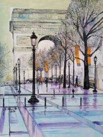 Triomphe, Paris, Bogen, Malerei