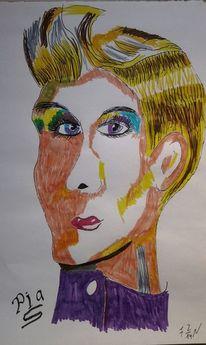 Model, Frau, Malerei