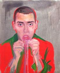 Lippen, Menschen, Weiß, Ölmalerei