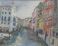 Aquarell, Architektur, Zyklus, Venezia