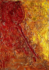 Struktur, Riss, Abstrakt, Gelb