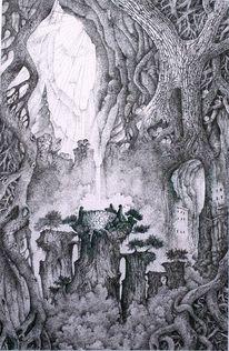Mythologie, Baum, Licht, Zeichnungen