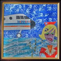 Décopatch, 747, American airlines, Stewardess