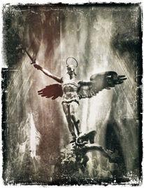 Kampf, Erzengel michael, Digitale kunst, Held