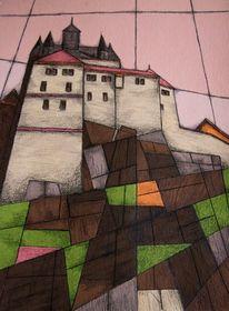 Malerei, Sachsen, Burg