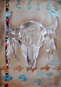 Indianer, Spririt, Bison, Nordamerika