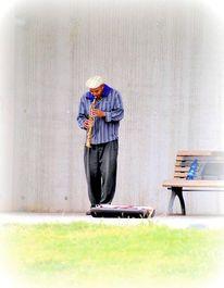 Mann klarinette musik, Fotografie