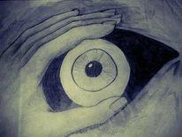 Tränen, Fenster, Augen, Hand
