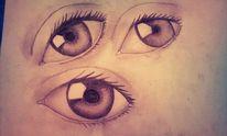 Augen, Tränen, Dunkel, Fenster