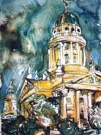 Berlin, Aquarellmalerei, Architektur, Aquarell