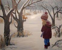 Kinder, Tiere, Realismus, Eichhörnchen