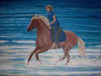 Pferde, Küste, Landschaft, Natur