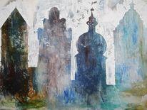Tor, Dinkelsbühl, Blautöne, Malerei