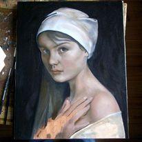 Portrait, Mädchen, Frau, Alte meister