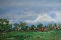 Ölmalerei, Nordsee, Neustadtgödens, Hof