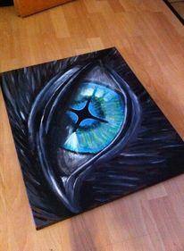 Adler, Augen, Acrylmalerei, Tiere