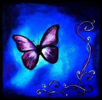 Muster, Schmetterling, Blau, Fantasie