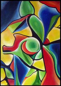 Abstrakt, Bunt, Ölmalerei, Farben