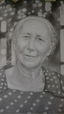 Zeichnung, Portrait, Bleistiftzeichnung, Zeichnungen