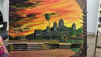 Weltkulturerbe, Acrylmalerei, Angkorwat, Landschaft
