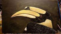 Tiermalerei, Vogel, Ölmalerei, Natur