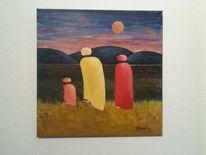 Angst, Reise, Familie, Malerei