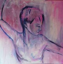 Frau, Akt, Portrait, Malerei
