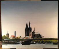 Licht, Gemälde, Landschaft, Malerei