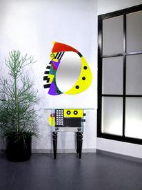 Design, Designspiegel, Spiegel, Glasschale